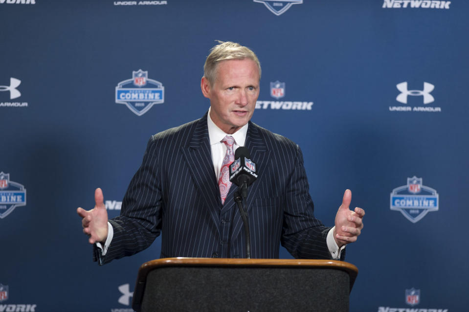 Mike Mayock reportedly has been hired as the Raiders' new general manager. (AP)