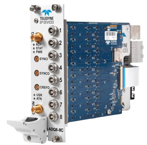 Teledyne SP Devices Announces New 8-channel 10-bit Digitizer with 1GS/s Sampling Rate