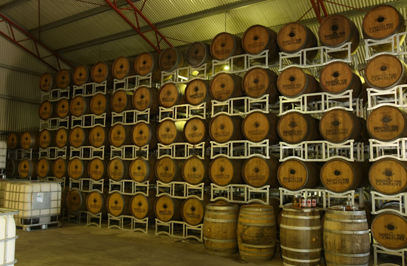 It's a waiting game for a rum distiller, many of these barrels won't be ready for at least 5 years. Photo: Supplied