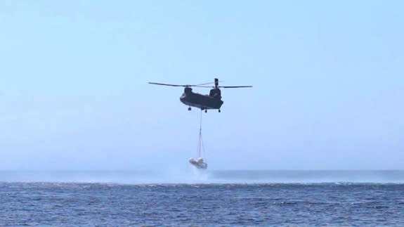 On the June 19, 2013 the IXV Descent and Landing System Test was successfully performed off the east coast of Sardinia, Italy, at the Poligono Interforze Salto di Quirra.
