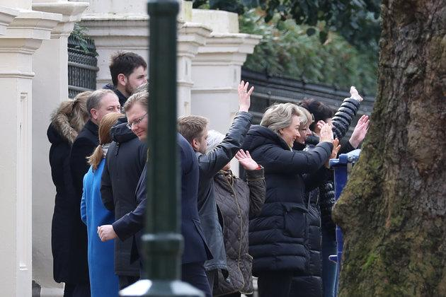 Russian diplomats and their families are farewelled