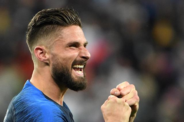 Olivier Giroud has not scored at the World Cup but he plays an essential role for France (AFP Photo/Paul ELLIS)