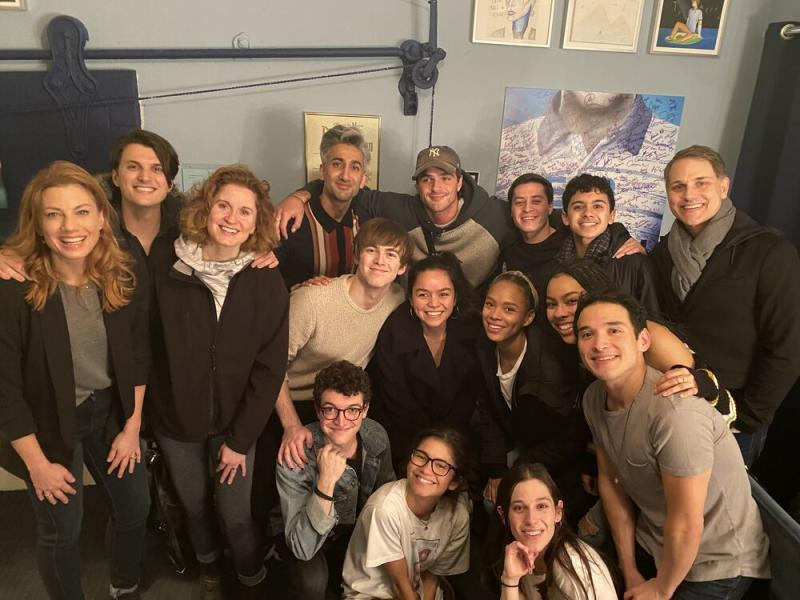 Zendaya and Jacob Elordi, backstage with Queer Eye's Tan France and the cast of Dear Evan Hansen | Dear Evan Hansen