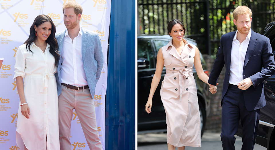 Megha's outfits on the last day of the tour. [Photo: Getty]