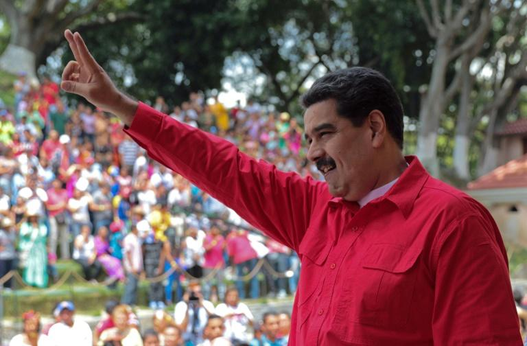The ruling socialists of Venezuelan President Nicolas Maduro, seen here in October, triumphed as expected in mayoral polls Sunday