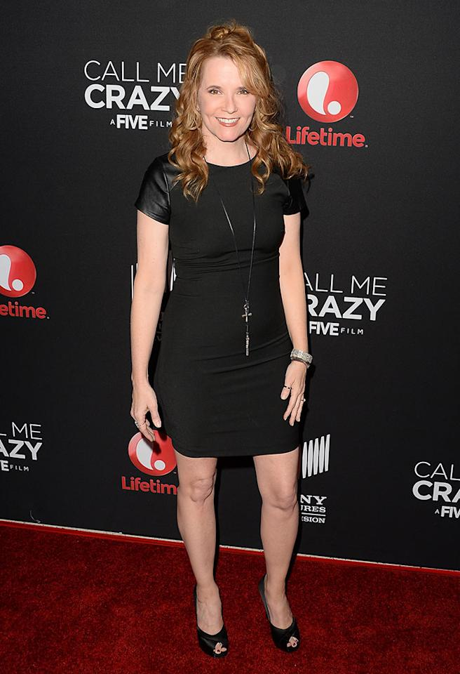 "Lea Thompson attends the premiere of Lifetime's ""Call Me Crazy: A Five Film"" at Pacific Design Center on April 16, 2013 in West Hollywood, California."