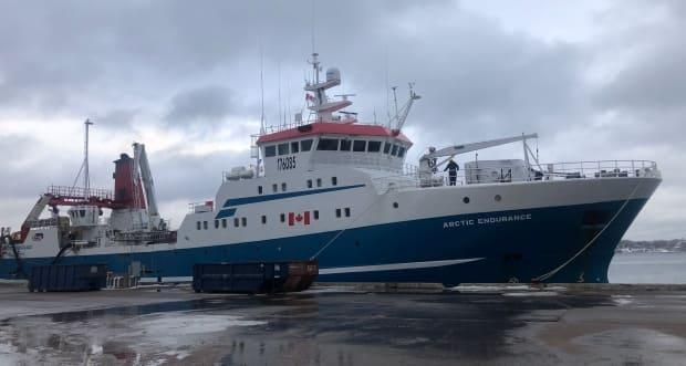 All the crew members aboard Clearwater Seafoods' fishing vessel Arctic Endurance were screened for COVID-19 using PCR testing before the ship recently put out to sea for a month-long voyage.  (Steve Lawrence/CBC - image credit)