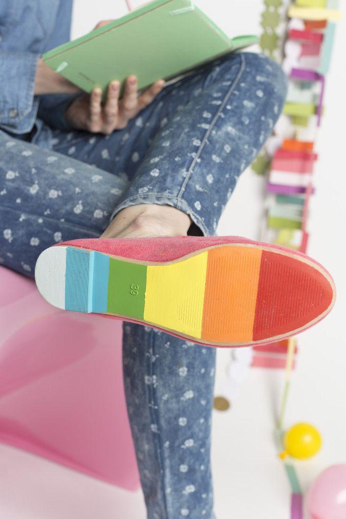 """<p>As one of the most creative crafts around, this project lets you get your rainbow on for Paddy's Day.</p><p><strong>Get the tutorial at <a href=""""https://thehousethatlarsbuilt.com/2015/03/diy-painted-shoes-for-st-patricks-day.html/"""" rel=""""nofollow noopener"""" target=""""_blank"""" data-ylk=""""slk:The House that Lars Built"""" class=""""link rapid-noclick-resp"""">The House that Lars Built</a>.</strong></p><p><a class=""""link rapid-noclick-resp"""" href=""""https://www.amazon.com/ScotchBlue-Painters-Multi-Use-70-Inch-2090-18E/dp/B00004Z4BB?tag=syn-yahoo-20&ascsubtag=%5Bartid%7C2164.g.35012898%5Bsrc%7Cyahoo-us"""" rel=""""nofollow noopener"""" target=""""_blank"""" data-ylk=""""slk:SHOP PAINTER'S TAPE"""">SHOP PAINTER'S TAPE</a><br></p>"""