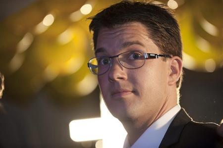 Akesson chairman of the right-wing party Sweden Democrats is pictured in Stockholm