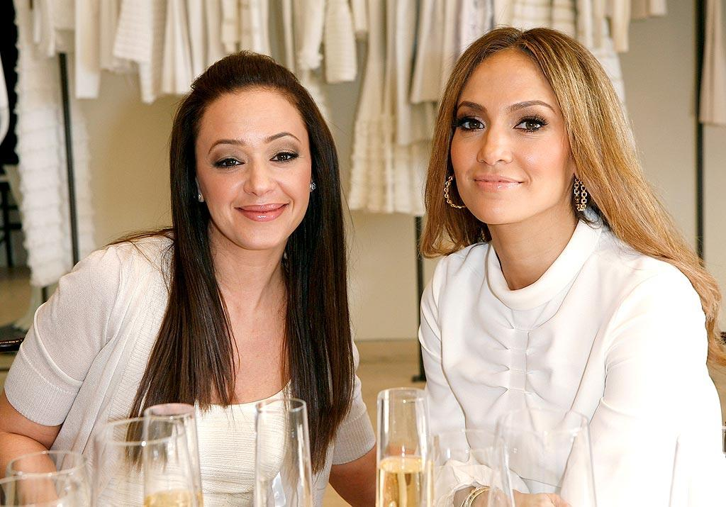 "J.Lo enjoyed a little bubbly with her BFF Leah Remini. Donato Sardella/<a href=""http://www.wireimage.com"" target=""new"">WireImage.com</a> - February 18, 2009"