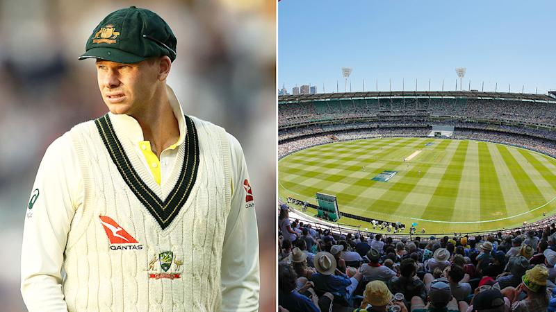 Pictured here, Steve Smith and a wide shot of the MCG on Boxing Day.