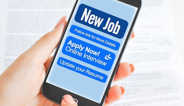 Apply for a job via smartphone or mobile device