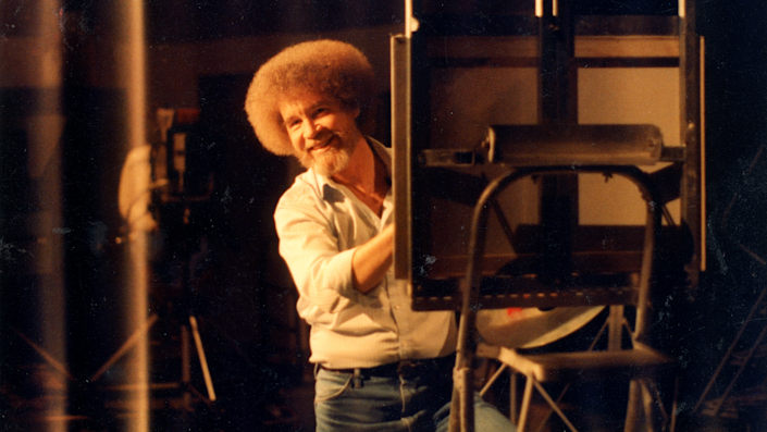 """Bob Ross' """"The Joy of Painting"""" debuted in 1983."""