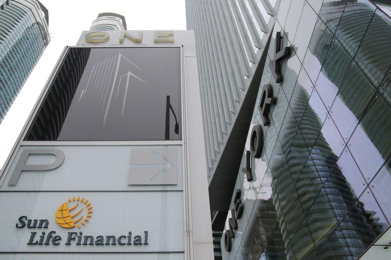 FILE PHOTO: The Sun Life Financial logo is seen at their corporate headquarters in Toronto