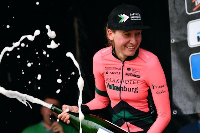 Sofie de Vuyst celebrates her victory