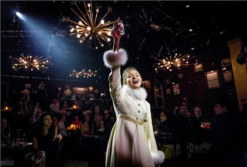 "This undated theater image released by The Hartman Group shows Phillipa Soo as Natasha in ""Natasha, Pierre and the Great Comet of 1812,"" a dinner theater performance that opened Thursday, May 15, 2013 in the meatpacking district of New York. (AP Photo/The Hartman Group, Chad Batka)"