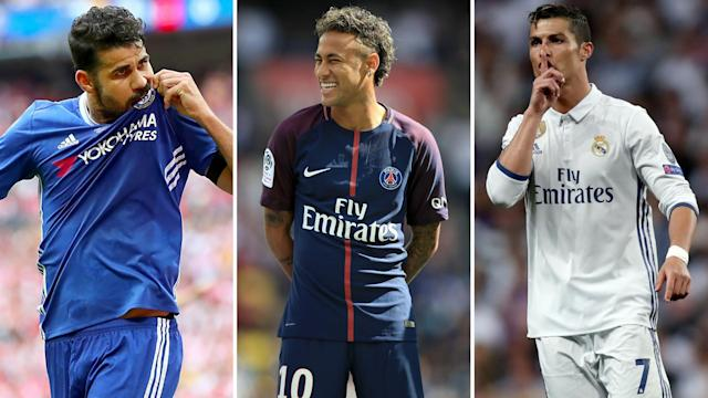 While Diego Costa could kiss Chelsea goodbye, Neymar might replace Cristiano Ronaldo at Real Madrid