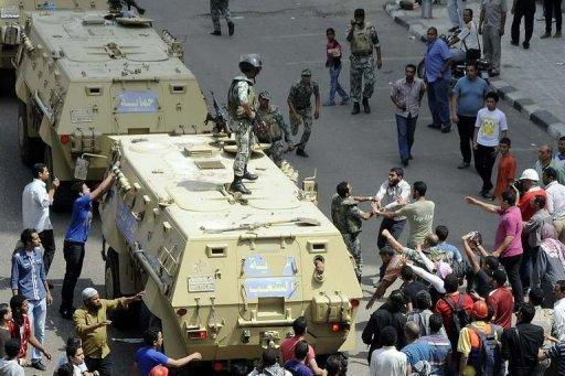 The army deployed troops in central Cairo to quell the clashes