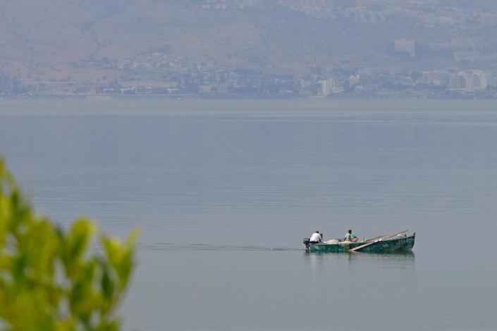 Believed by Christians to be where Jesus walked on water, the Sea of Galilee has been shrinking mainly due to overuse (AFP Photo/JACK GUEZ)