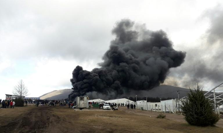 A camp near the village of Lipa burned down on December 23.