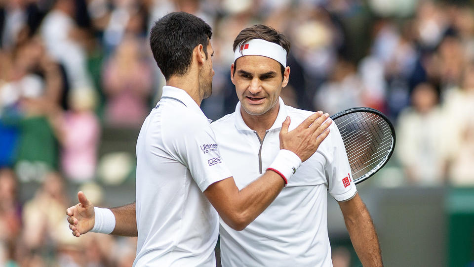 Serena Williams' coach, Patrick Mouratoglou, claims we will see a major breakthrough of the NextGen and they will usurp the likes of Roger Federer (pictured right) and Novak Djokovic (pictured left) soon. (Getty Images)