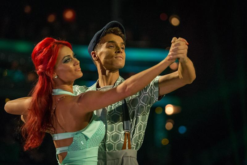 Just friends: Dianne Buswell and Joe Sugg: BBC/Guy Levy