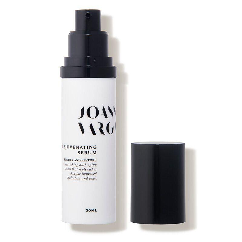 """The serum Kaling says she swears by is the&nbsp;Joanna Vargas Rejuvenating Serum, a botonically based anti-aging serum packed with vitamin C for brightening and restorative oils like argan, jojoba and neroli.&nbsp;<strong><a href=""""https://fave.co/2Hljs76"""" target=""""_blank"""" rel=""""noopener noreferrer"""">Get it at Dermstore, $100</a></strong>. (Photo: Dermstore)"""