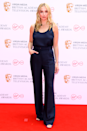 <p>Jodie Comer goes for a more minimalist 'fit in head-to-toe navy.</p>