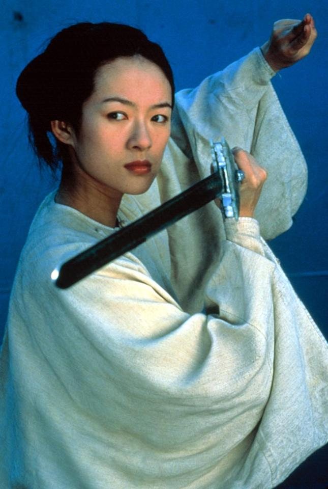 """<a href=""""http://movies.yahoo.com/movie/contributor/1800424122"""">Ziyi Zhang</a>, """"<a href=""""http://movies.yahoo.com/movie/1800424121/info"""">Crouching Tiger Hidden Dragon</a>""""<br><br>When Ziyi's Jen learns to master the Green Destiny, a legendary sword, she went mano-a-mano against fellow high-kicking hottie <a href=""""http://movies.yahoo.com/movie/contributor/1800026424"""">Michelle Yeoh</a> in this award-winning flick."""