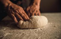 """<p>When <a href=""""https://www.thedailymeal.com/how-to-bake-bread-at-home?referrer=yahoo&category=beauty_food&include_utm=1&utm_medium=referral&utm_source=yahoo&utm_campaign=feed"""" rel=""""nofollow noopener"""" target=""""_blank"""" data-ylk=""""slk:baking your own bread"""" class=""""link rapid-noclick-resp"""">baking your own bread</a>, make sure you let the dough rest after kneading it. This will give the dough time to relax, and in turn, it will be easier to work with.</p>"""