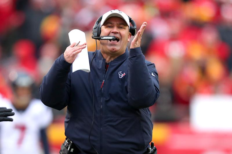 A pair of pivotal decisions by Bill O'Brien shifted the momentum of Sunday's AFC playoff game. (Tom Pennington/Getty Images)