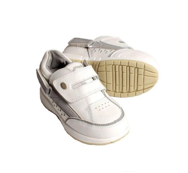 Buy the Hatchbacks Freestyle Kids White/Gray Leather Shoes