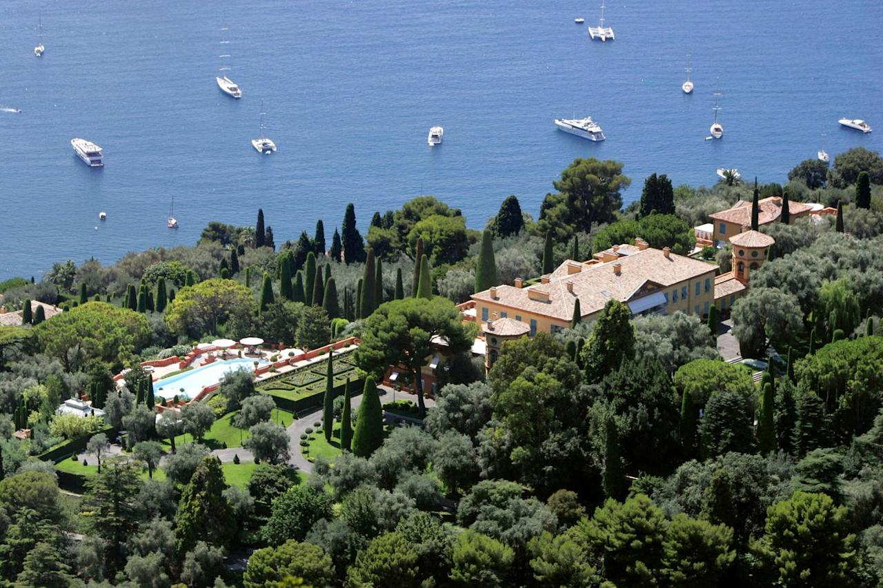 "<p><strong>Estimated value: $750 million</strong></p><p>Owned by Lily Safra, widow of Lebanese born Brazilian banker Edmond Safra, this 11-bedroom, 14-bathroom estate is perched on 50 acres in France's Alpes-Maritime department of its Cote d'Azur region. It features a commercial greenhouse, helipad, outdoor kitchen, and stunning pool, and was the setting for Alfred Hitchcock's 1955 film <em>To Catch a Thief</em>. Villa La Leopolda is named for its original owner: King Leopold II of Belgium gifted the estate to his mistress Blanche Zelia Josephine Delacroix in the early 20th century. The home was redesigned by <a href=""https://www.metmuseum.org/art/collection/search/347689"" target=""_blank"">American architect Ogden Codman Jr.</a> in the 1920s. </p>"
