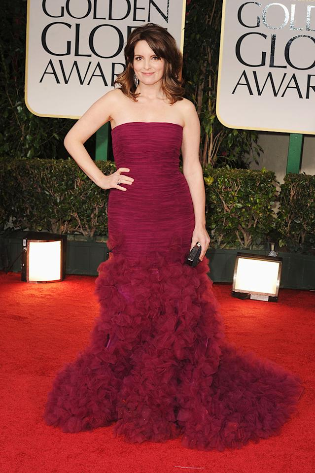 Tina Fey arrives at the 69th Annual Golden Globe Awards in Beverly Hills, California, on January 15.