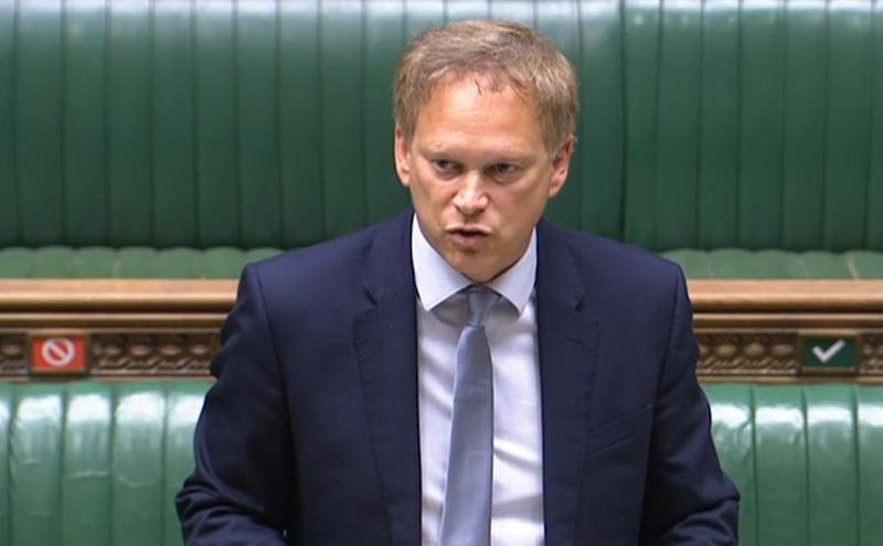 Transport Secretary Grant Shapps speaking in the House of Commons (PA)