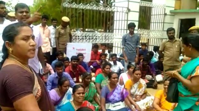 Four women enrolled at a college in Virudhunagar say a Math professor, also a woman, tried to convince them to take academic and financial assistance from Madurai Kamaraj University officials in exchange for sexual favours.