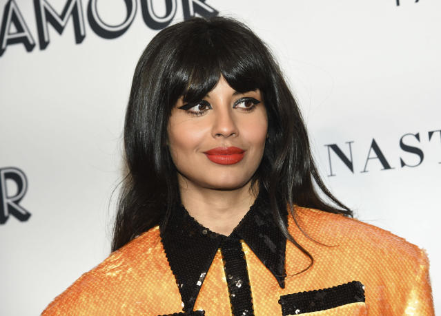 Jameela Jamil attends the Glamour Women of the Year Awards at Alice Tully Hall in New York. (Evan Agostini/Invision/AP)