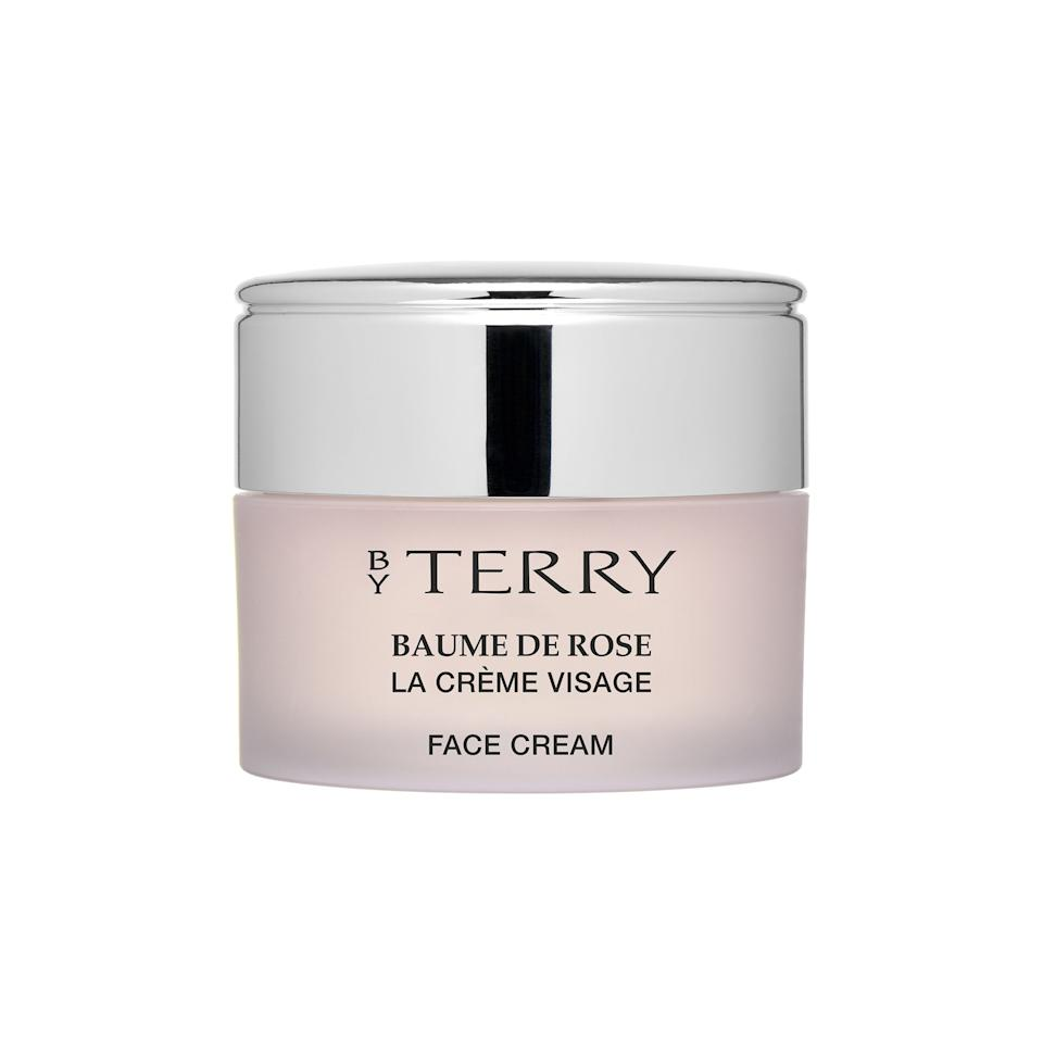 """<p>Inspired by the brand's cult-favorite lip balm, this nourishing moisturizer smells like a fresh bouquet of roses — and will last a heck of a lot longer.</p><p>$85 (<a rel=""""nofollow"""" href=""""http://www.barneys.com/product/by-terry-baume-de-rose-face-cream-505001743.html?mbid=synd_yahoostyle"""">barneys.com</a>)</p>"""