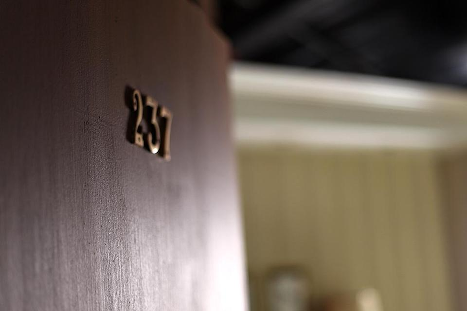 """<p>""""There ain't nothing in Room 237."""" Spoiler alert, there is. Fans will just have to come see for themselves what will happen to brave guests who enter the hotel room. (Photo: Camilo Urdaneta/Yahoo) </p>"""