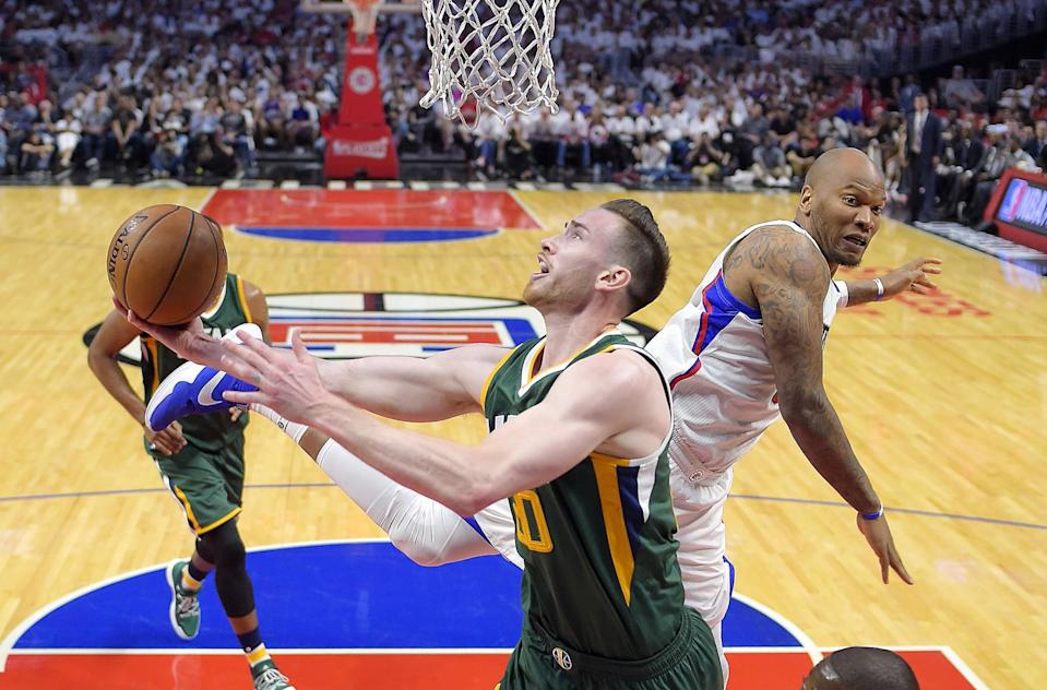 Gordon Hayward had 26 points and eight rebounds in the Jazz's Game 7 victory over the Clippers. (AP)