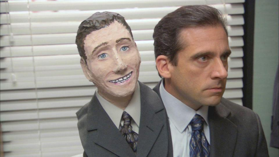 """<p>The scare factor is real life in the season 2 episode """"Halloween."""" As Michael anxiously tries (and repeatedly fails) to fire someone per Jan's demands, Jim and Pam play a prank on Dwight that could have real implications for their relationship. Though the prospect of losing their jobs is enough to give many at Dunder Mifflin chills, they still manage to make the most of the holiday with some truly creative costumes and no shortage of cat ears. </p><p><a class=""""link rapid-noclick-resp"""" href=""""https://www.netflix.com/title/70136120"""" rel=""""nofollow noopener"""" target=""""_blank"""" data-ylk=""""slk:Watch now"""">Watch now</a></p>"""