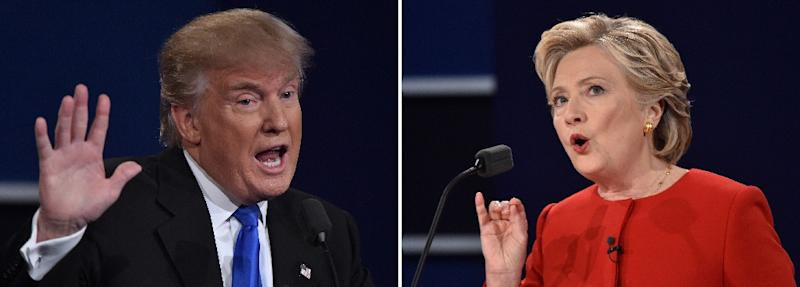 Democratic presidential nominee Hillary Clinton has support of practically all mainstream US newspapers, women and minorities, while Republican nominee Donald Trump has support of motley crew of allies ranging from Vladimir Putin to Julian Assange (AFP Photo/Paul J. Richards)