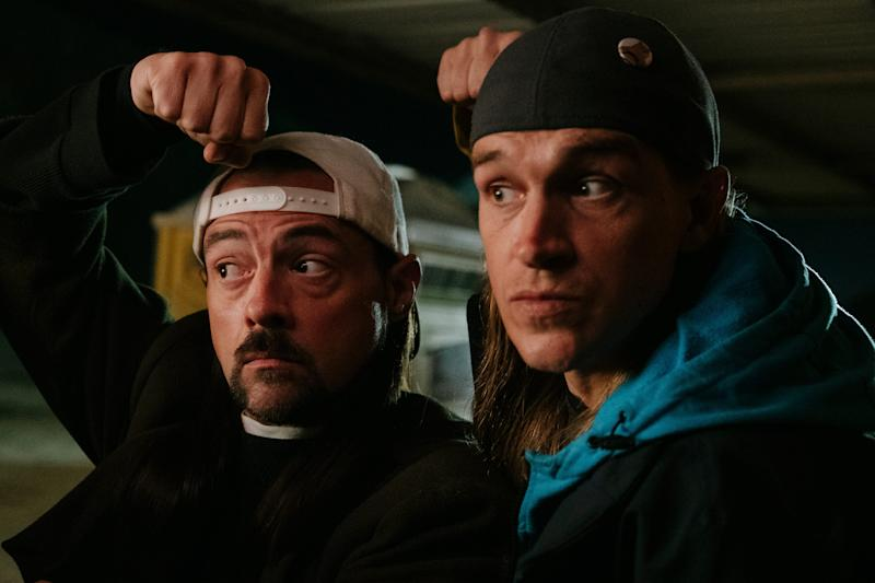 Kevin Smith (left, with Jason Mewes) calls his new