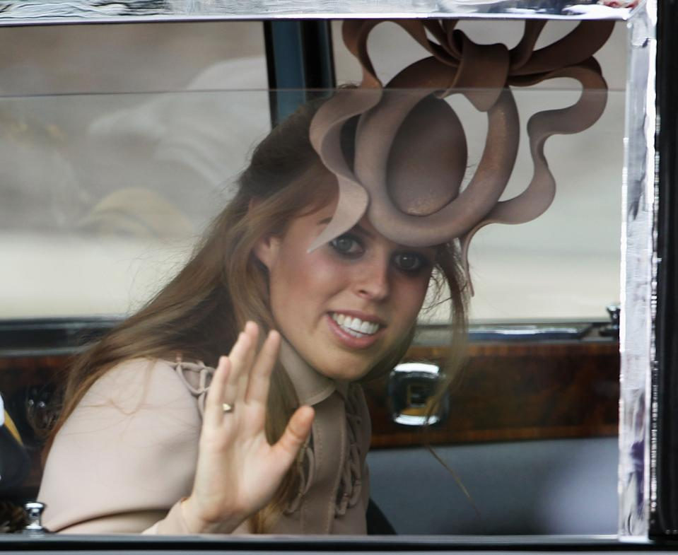 Princess Beatrice at Kate and William's wedding at Westminster Abbey. [Photo: PA]