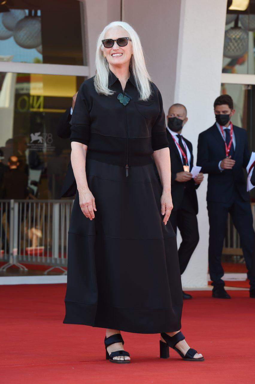 VENICE, ITALY - SEPTEMBER 02: Director Jane Campion attends the red carpet of the movie 'The Power Of The Dog' during the 78th Venice International Film Festival on September 02, 2021 in Venice, Italy. (Photo by Stefania D'Alessandro/Getty Images)