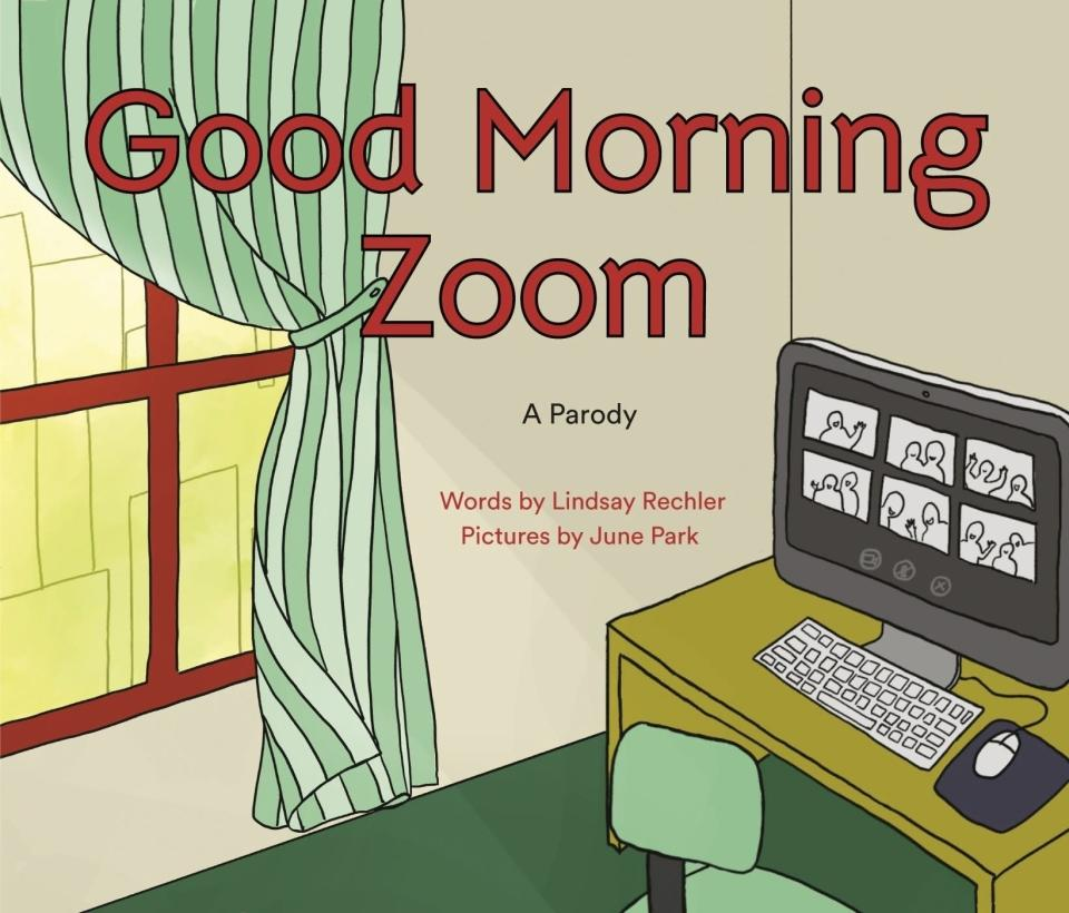 """This cover image released by Philomel Books shows """"Good Morning Zoom"""" with words by Lindsay Rechler and pictures by June Park. (Philomel via AP)"""