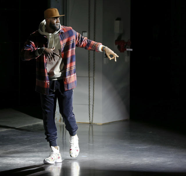 LeBron James closing Kith Sport's show at New York Fashion Week on Sept. 7. (Brian Ach via Getty Images)