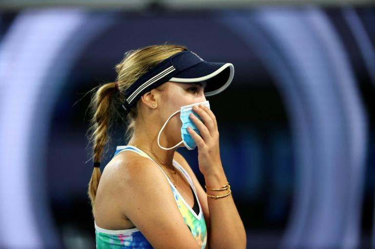 Sofia Kenin, pictured, lost to Garbine Muguruza in the Yarra Valley Classic
