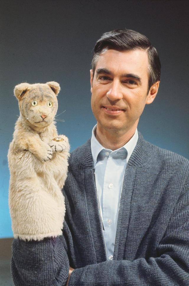 Fred Rogers and his puppet alter ego, Daniel Tiger. (Photo: Focus Features)