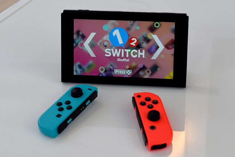 Shareable: the Nintendo Switch features controllers designed for multiplayer: TIMOTHY A. CLARY/AFP/Getty